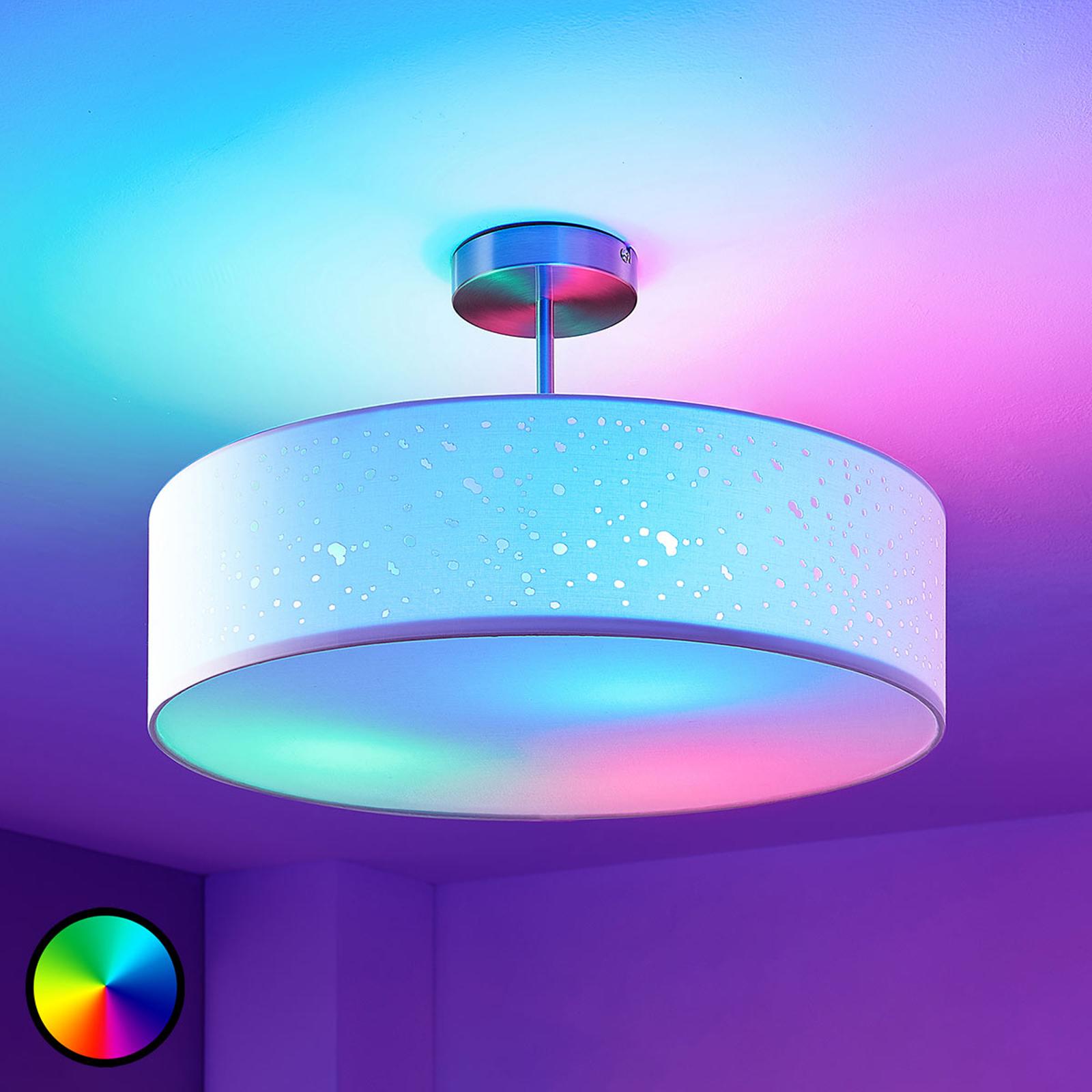 Lindby Smart lámpara LED de techo Alwine distancia