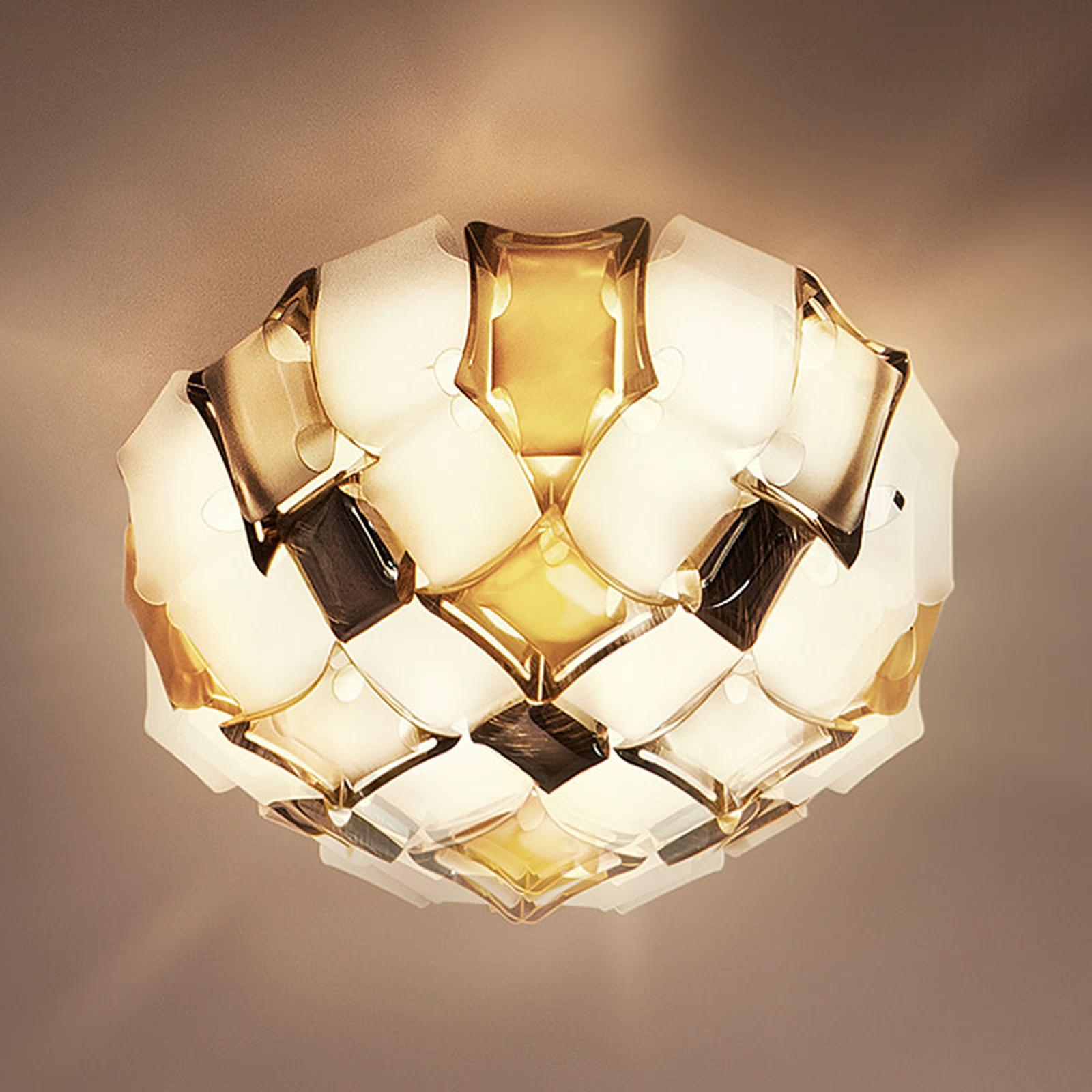 Slamp Mida stropní světlo, 67 cm, jantar/bílá