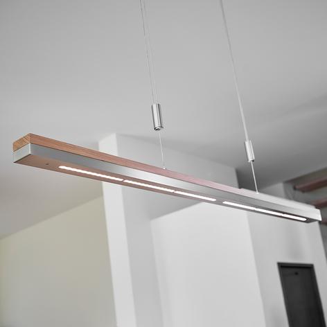 Lámpara colgante Elna, madera con LED atenuables