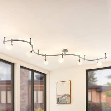 Arcchio Peetz LED-Deckenleuchte mit Glas, 6-fl.