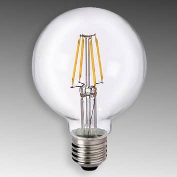E27 6W 827 LED Globe G80 čirá