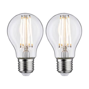 Bombilla LED E27 7W filamento 2.700K claro, set 2