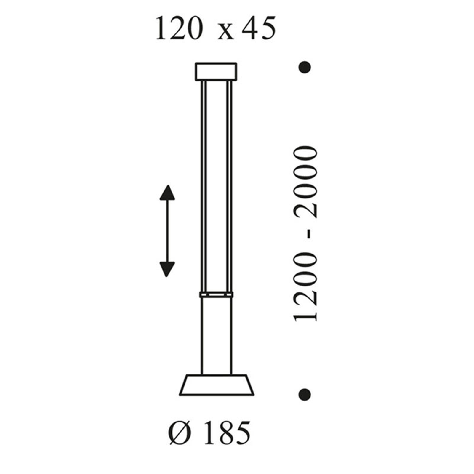 OLIGO Glance lampa wisząca LED 1-pkt. czarna