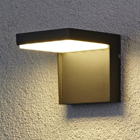 Zewnętrzna lampa ścienna LED Rachel z aluminium