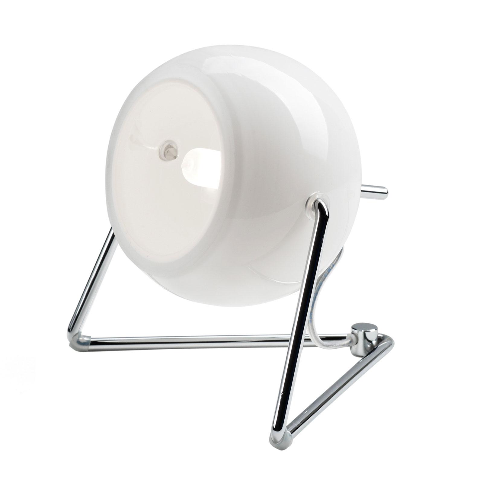 Fabbian Beluga white glazen tafellamp, Ø 9 cm