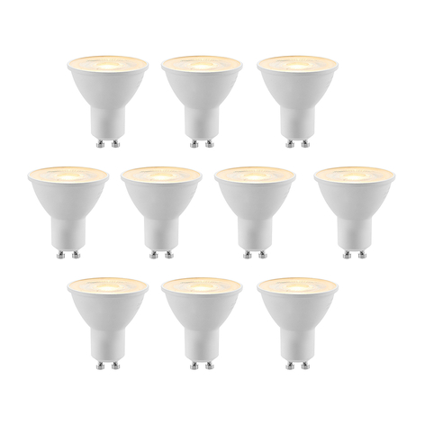 ELC LED-reflector GU10 5W 10 stuks/pak 2700K 36°