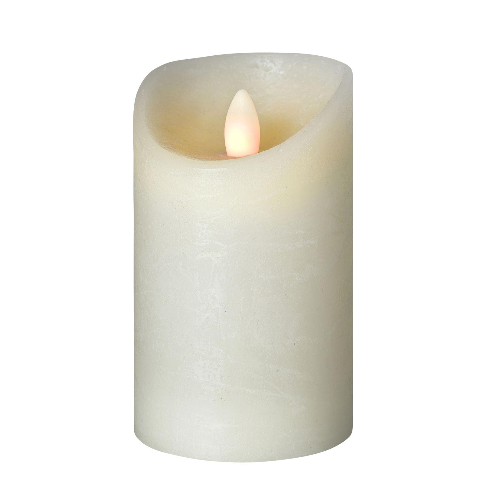 LED-Kerze Shine, Ø 7,5 cm, elfenbein, Höhe 15 cm