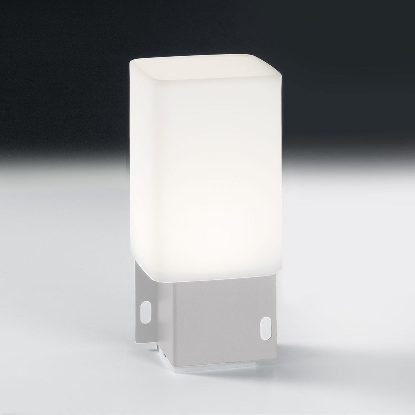 LED-Außendekolampe Cuadrat ohne USB, weiß