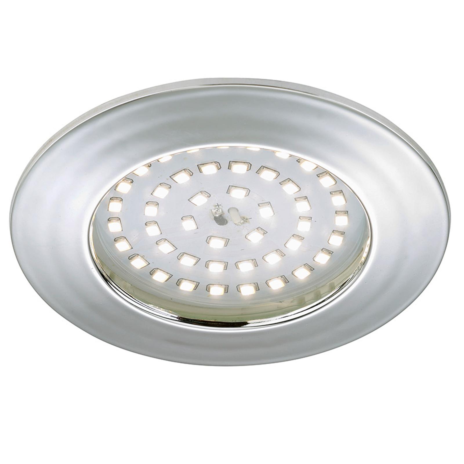 Spot encastré LED lumineux Elli, aluminium