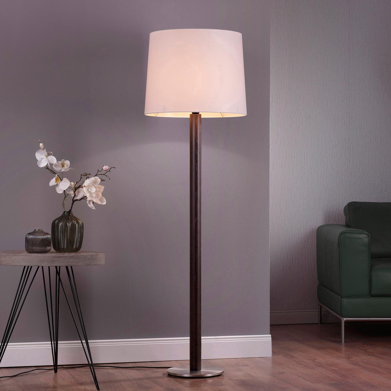 Lucande Elif lampa stojąca biała cylinder ciemny