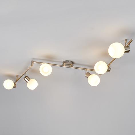 Elaina - Plafonnier LED, à 6lampes, nickel mat