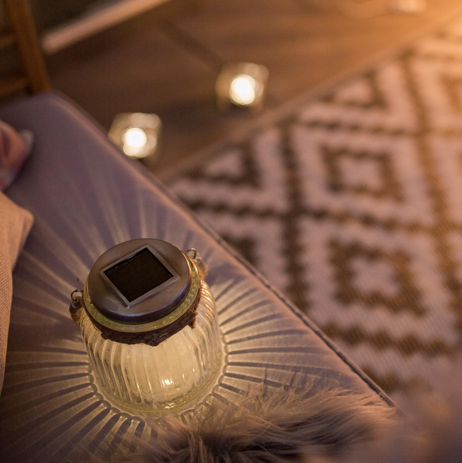 Lampada solare LED Jar di vetro