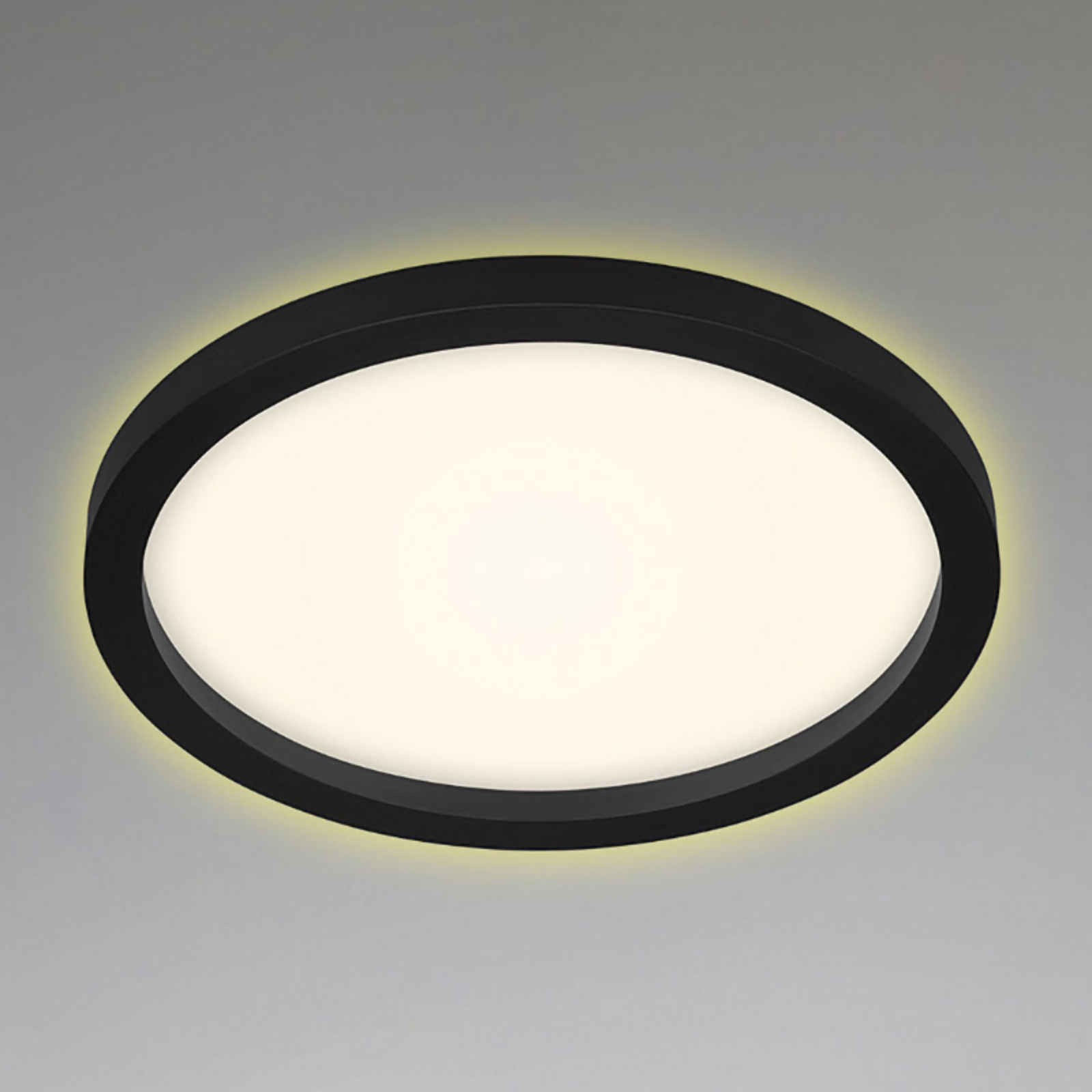 LED-taklampe 7361, Ø29cm svart