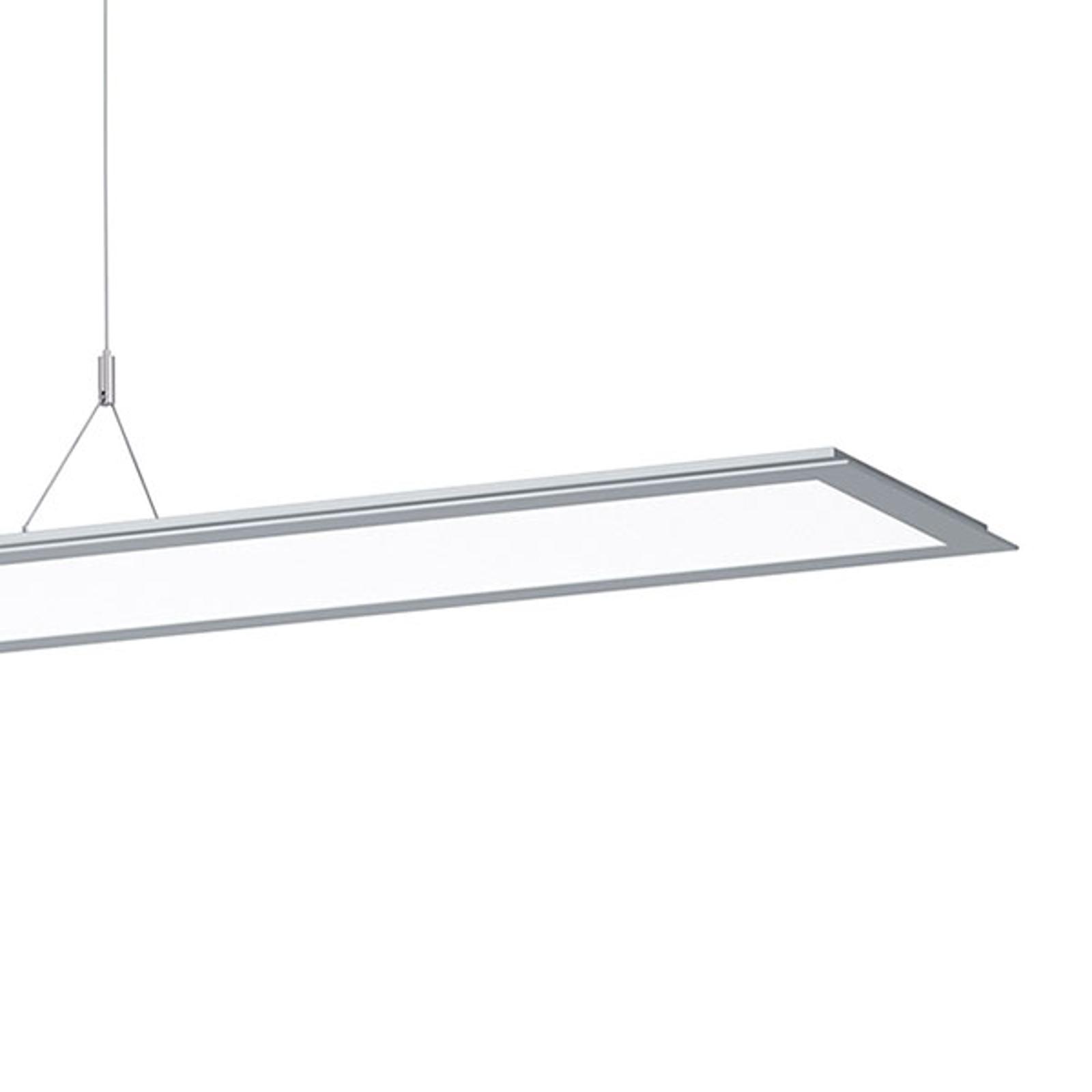 Suspension LED SL713PL, 124cm, 9250lm, grise