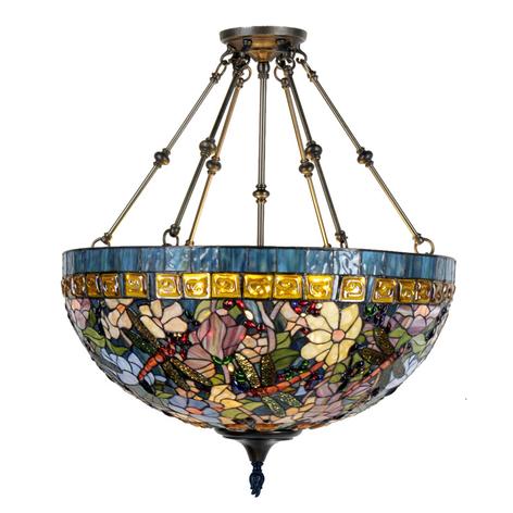 Gloria - lámpara de suspensión en estilo Tiffany
