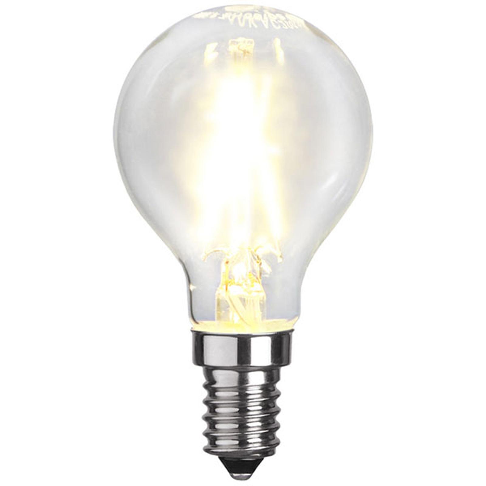 Ampoule goutte LED E14 P45 2W 2700K filament