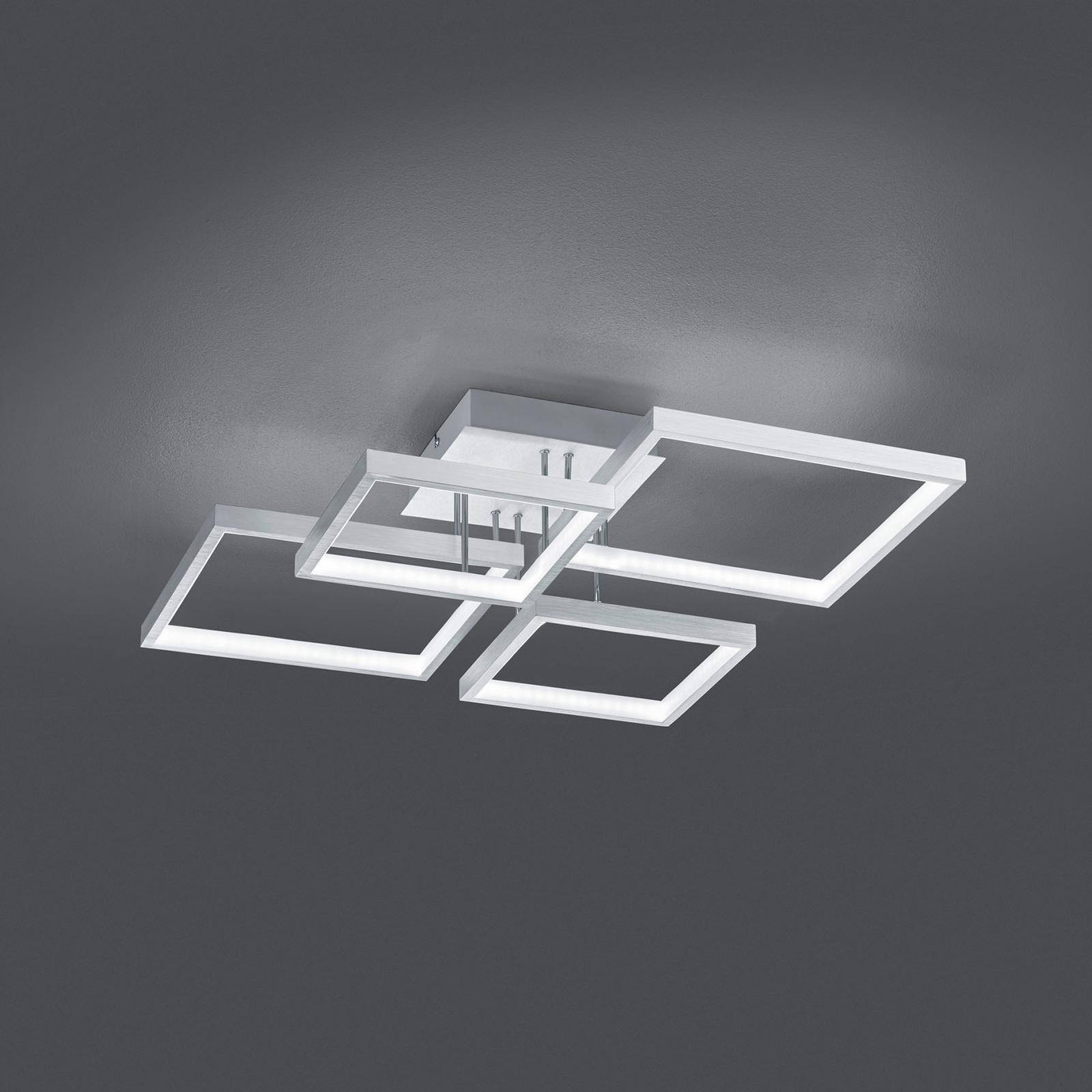 LED stropní světlo Sorrento 52 x 52 cm, hliník