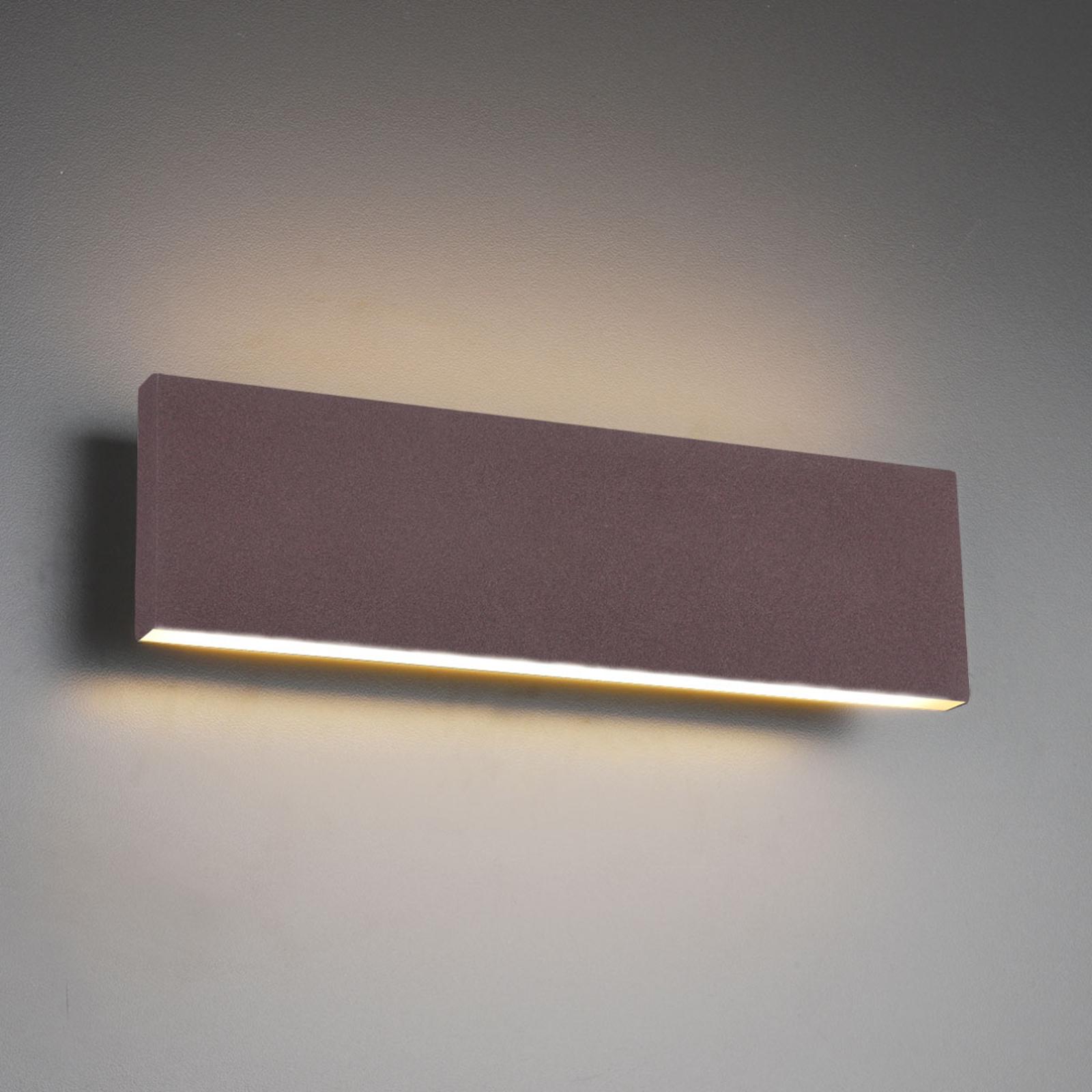 LED-Wandlampe Concha 28 cm, rost