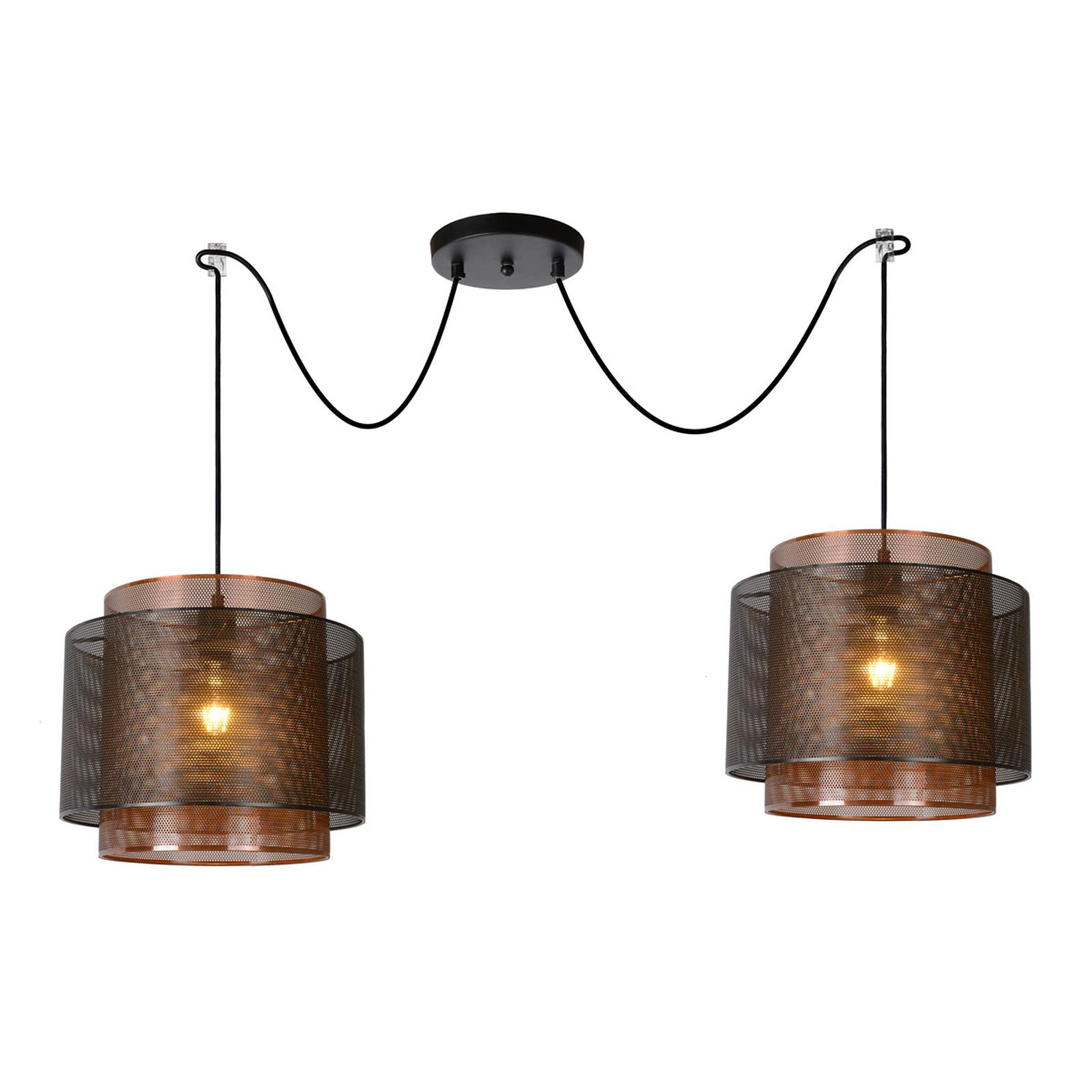 Hanglamp Orrin van metaal, 2-lamps