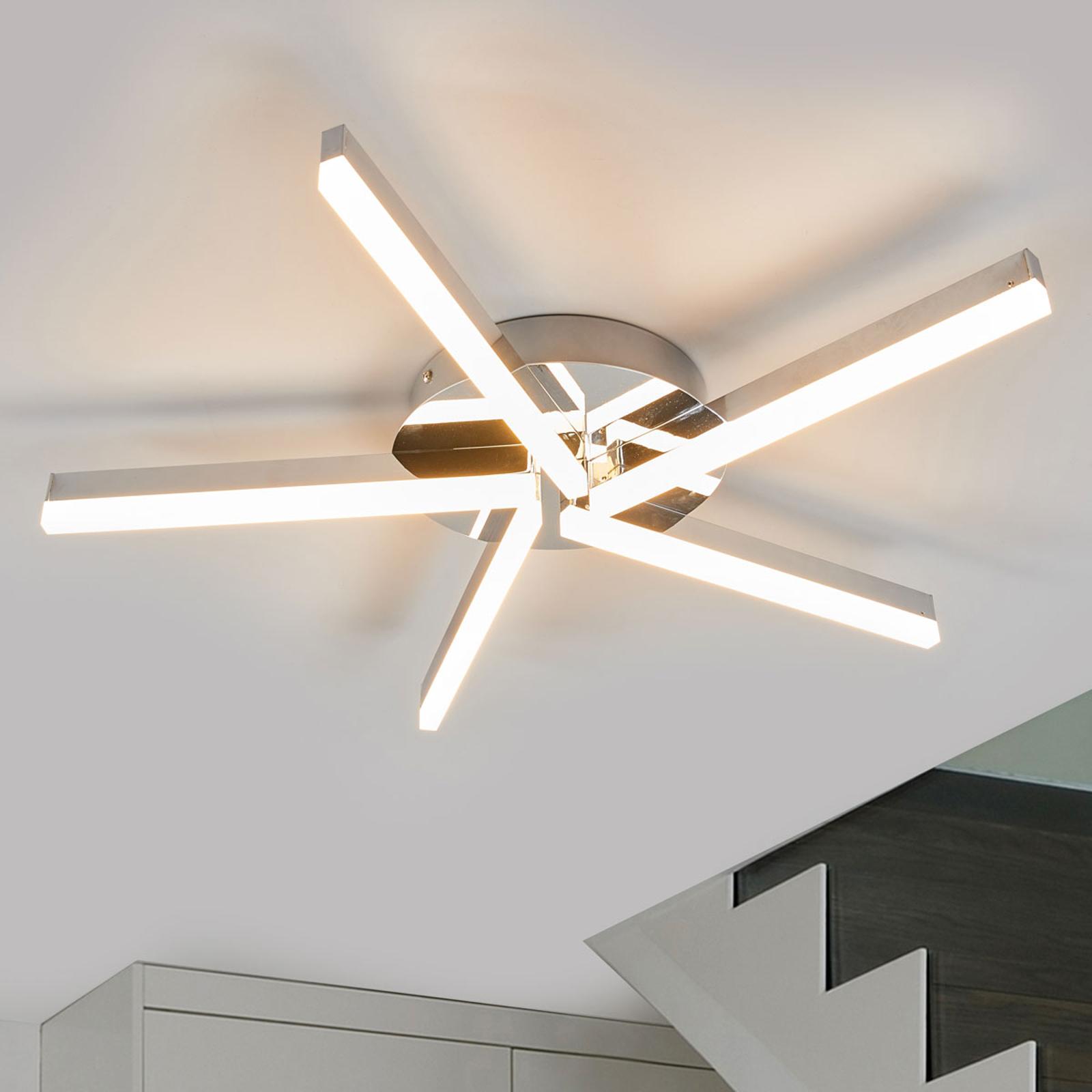 Bad LED Deckenleuchte Patrik, chrom 20 flammig IP20