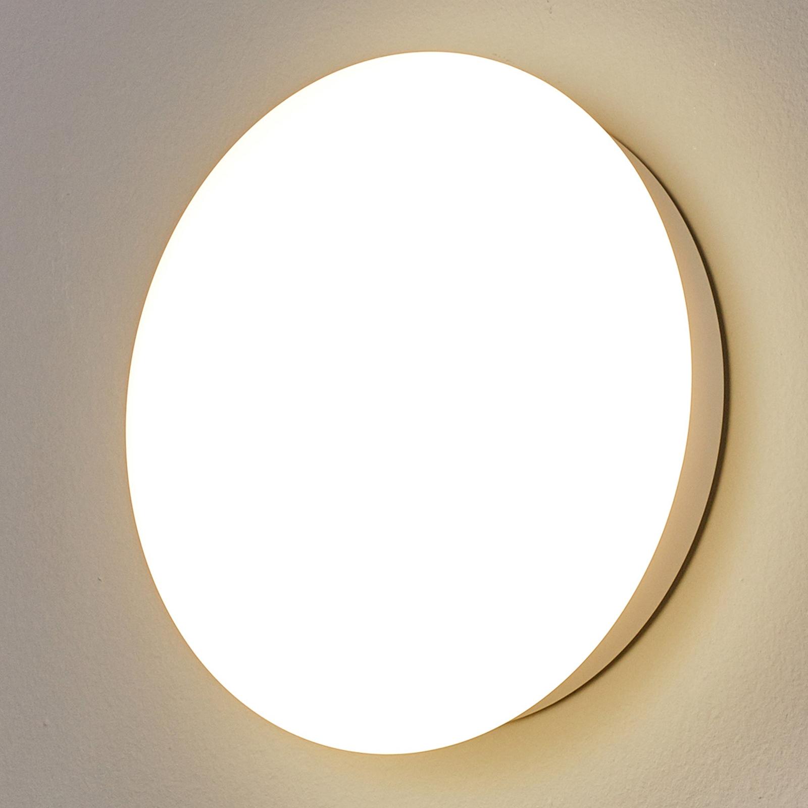 LED-vägglampa Sun 12 IP55, 8W 3000K vv