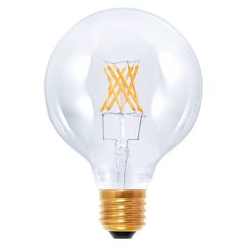 Lampadina LED globo G95 922 E27 6W fil. carbone