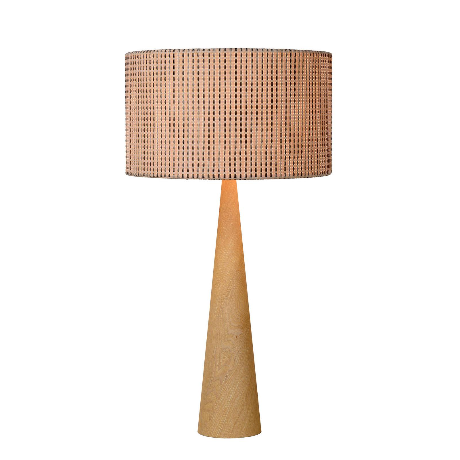 Lampe à poser Conos à pied en bois clair