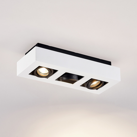 Arcchio Vince, lámpara de techo 36x14cm blanco