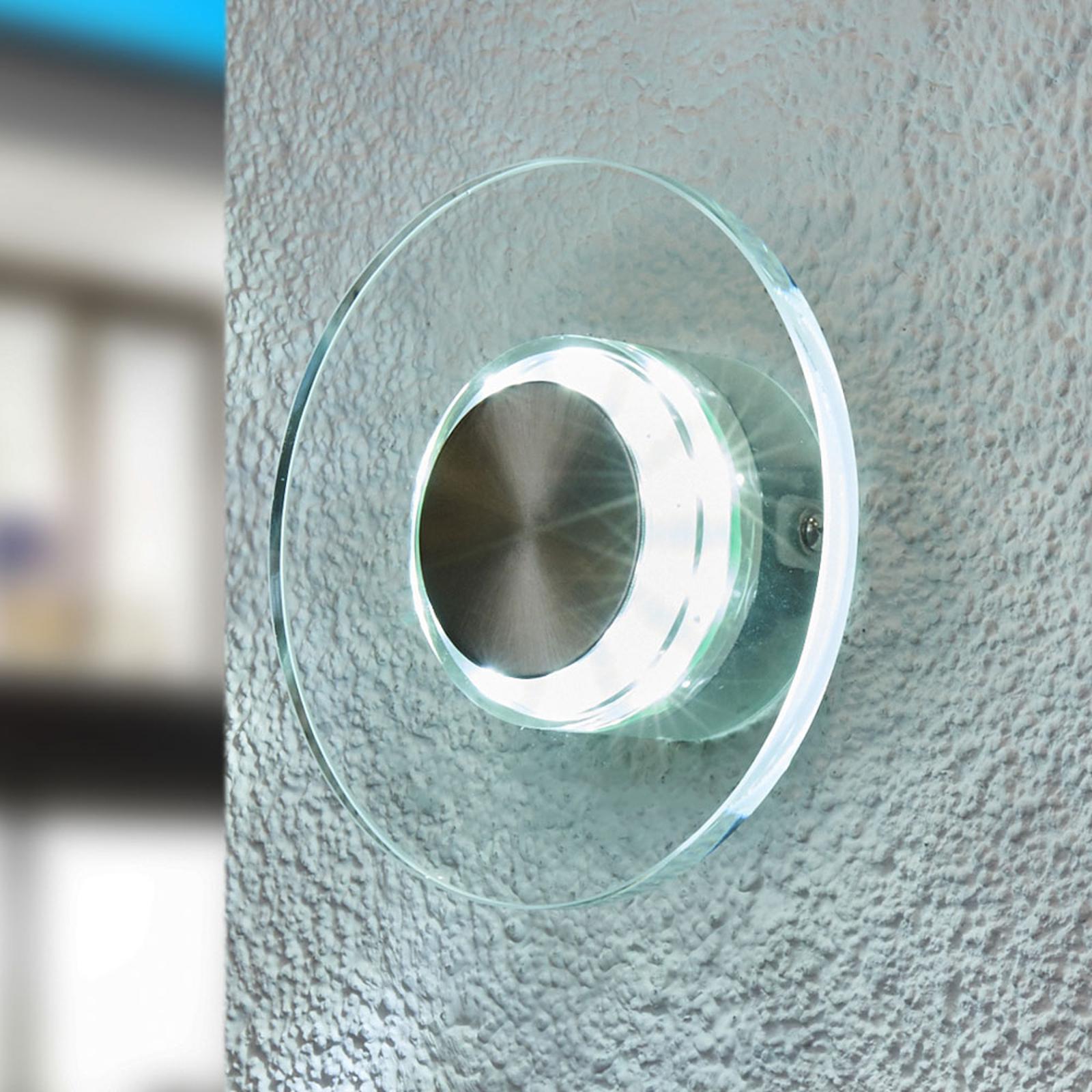Efektowna LED zewnętrzna lampa ścienna DANA