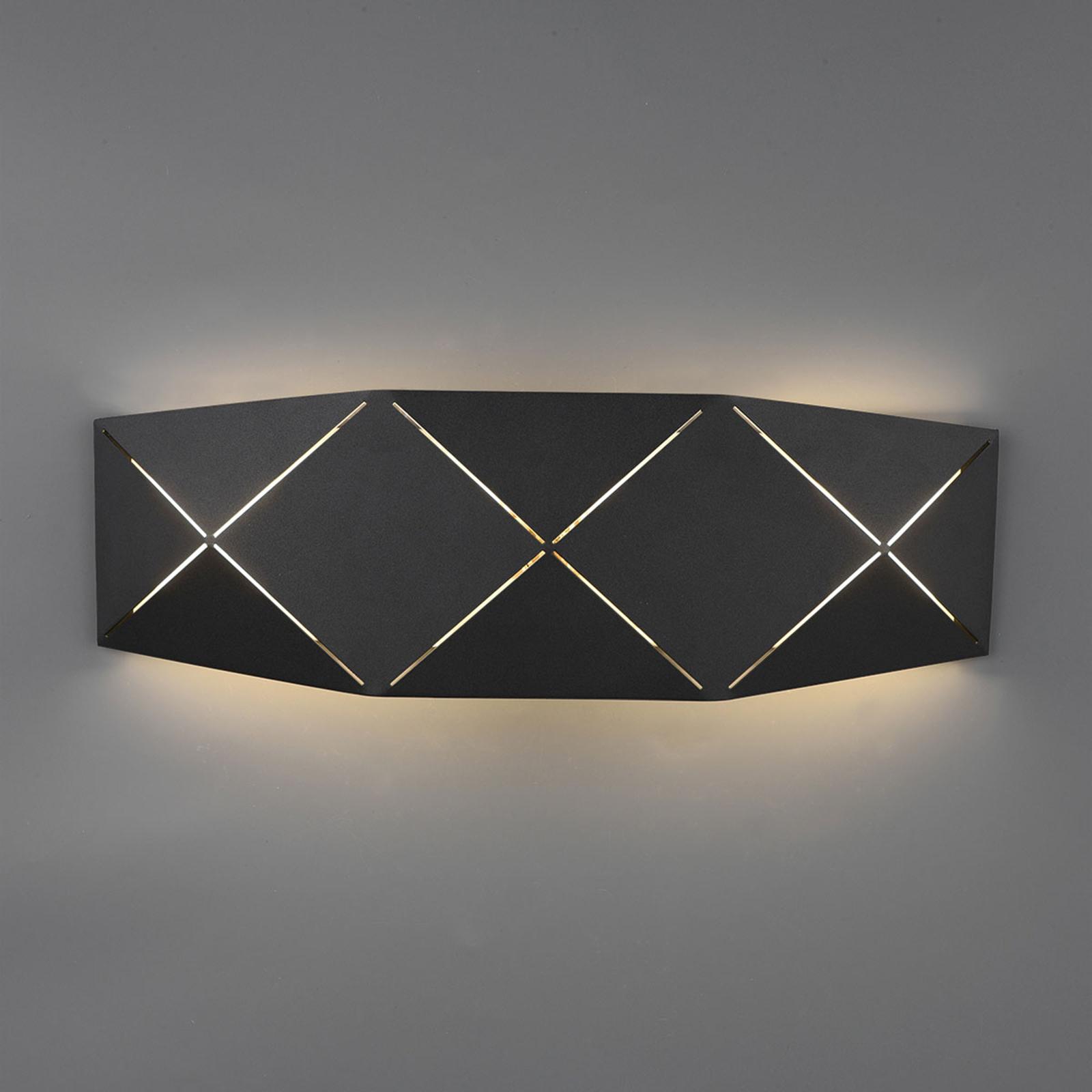 LED-Wandlampe Zandor in Schwarz, Breite 40 cm