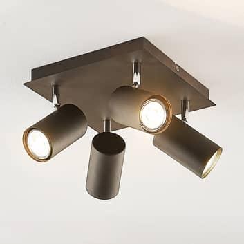 Lindby Joffrey, taklampe, 4 lyskilder, svart