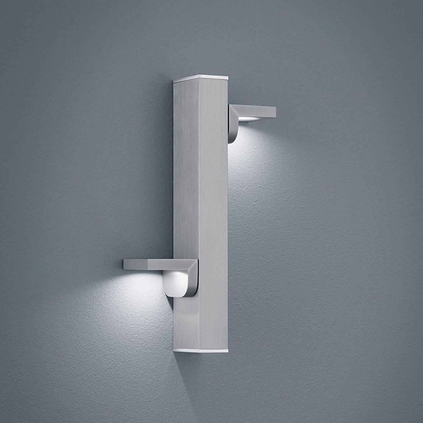 Helestra Arta applique LED nichel satinato/cromo