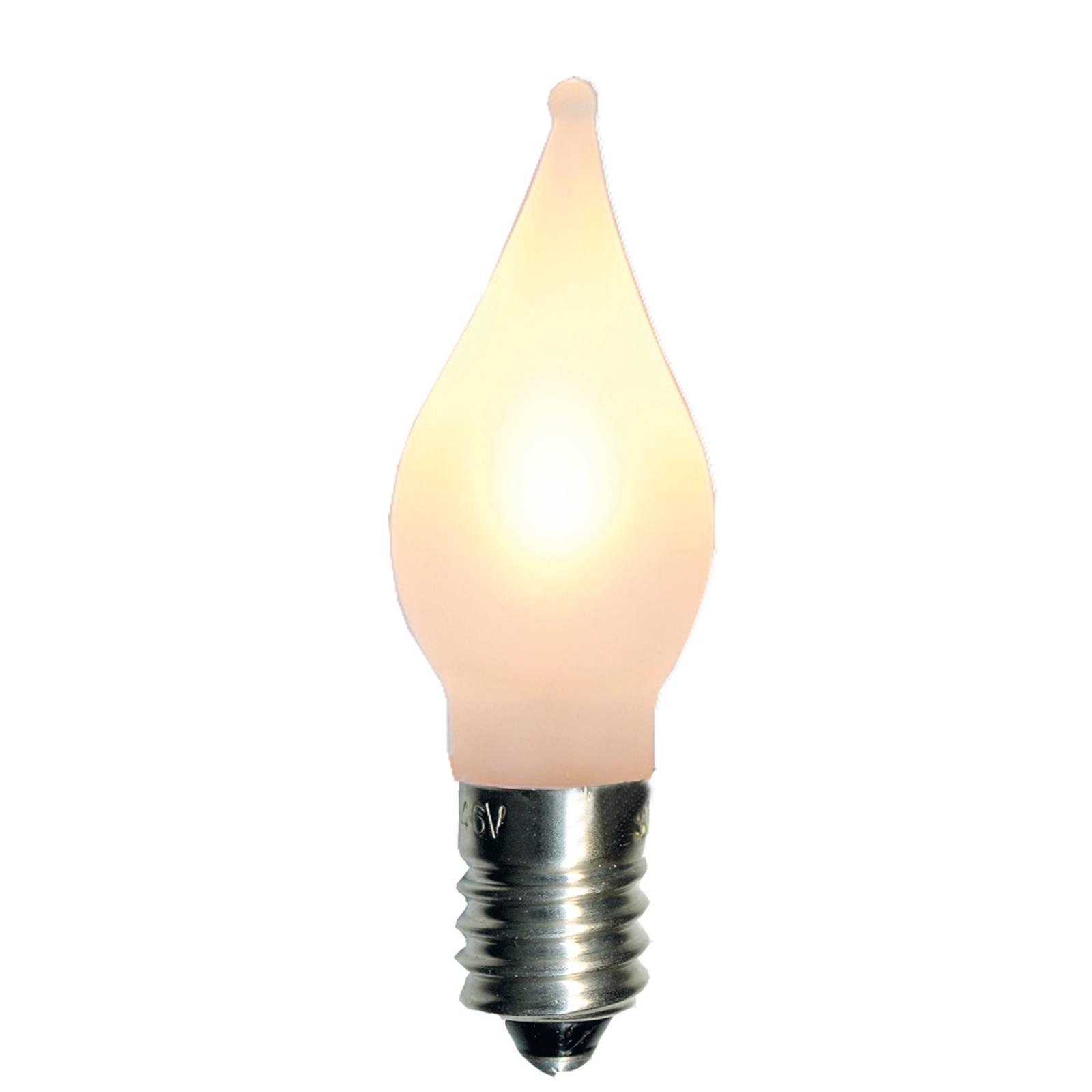 E10 0,1W 10-55V LED set 3x ricambi a fiammella
