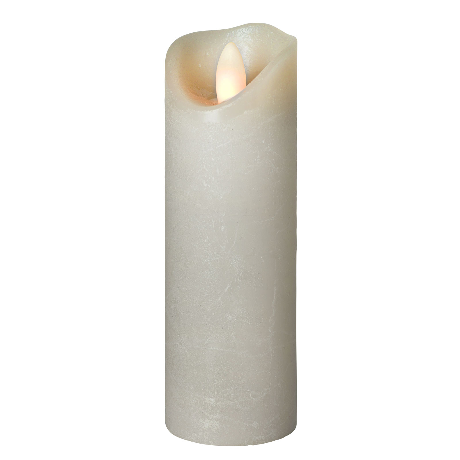 LED-Kerze Shine, Ø 5 cm, grau, Höhe 17,5 cm