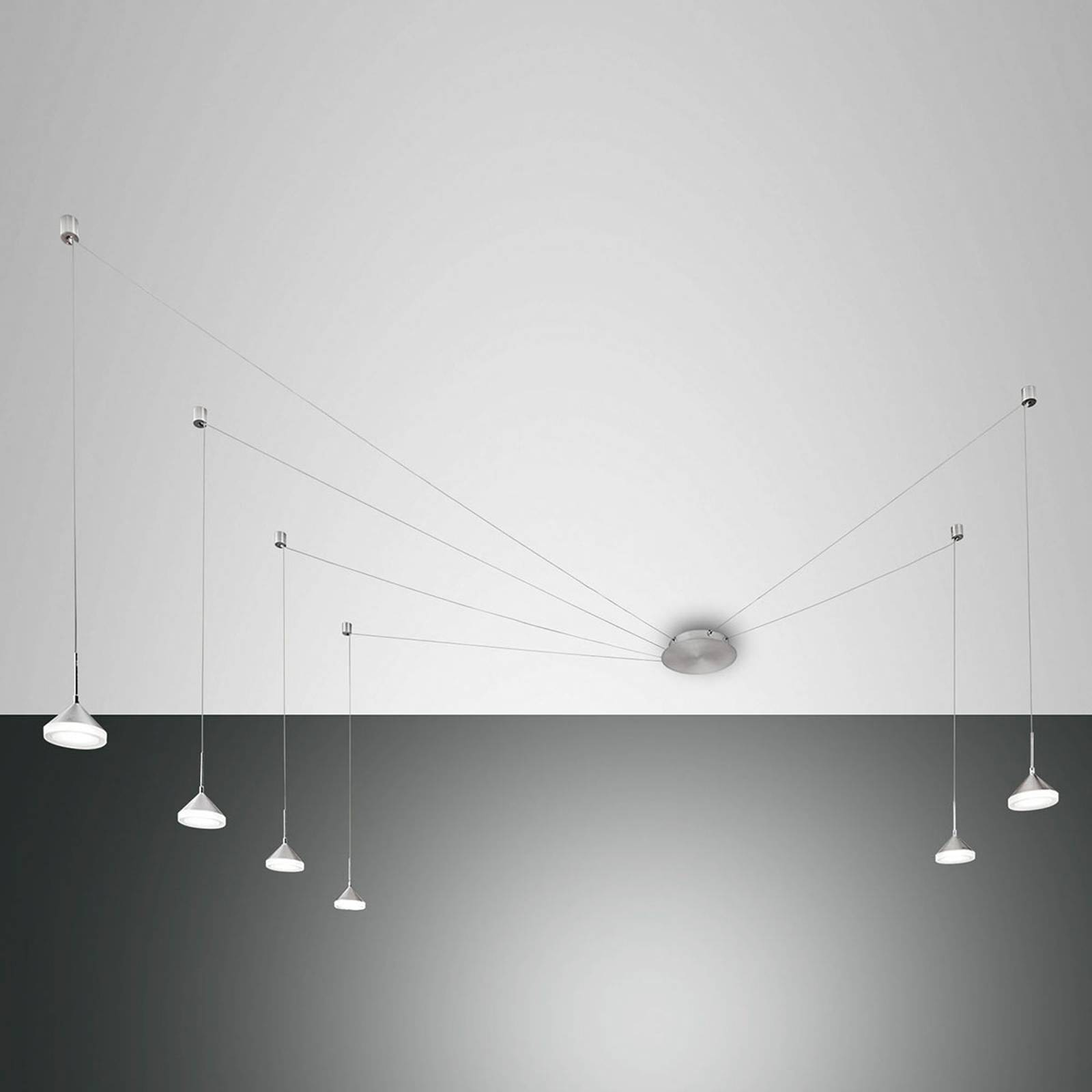 LED hanglamp Isabella met zes lampjes