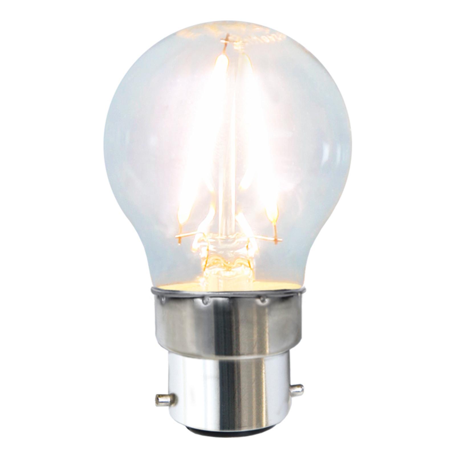 B22 2W 827 LED-Tropfenlampe