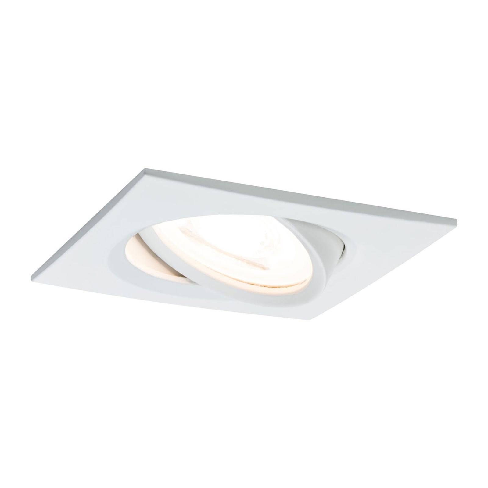 Paulmann LED-spot Nova Coin kantig, dimbar, vit