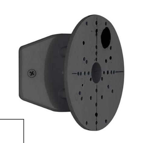 Raccord d'angle pour luminaires d'extérieur noir/b