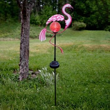 Flamingo-LED-maapiikkivalo aurinkomoduulilla