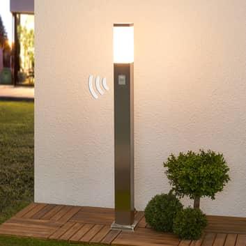 Sensor-Wegelampe Lorian in eckiger Form