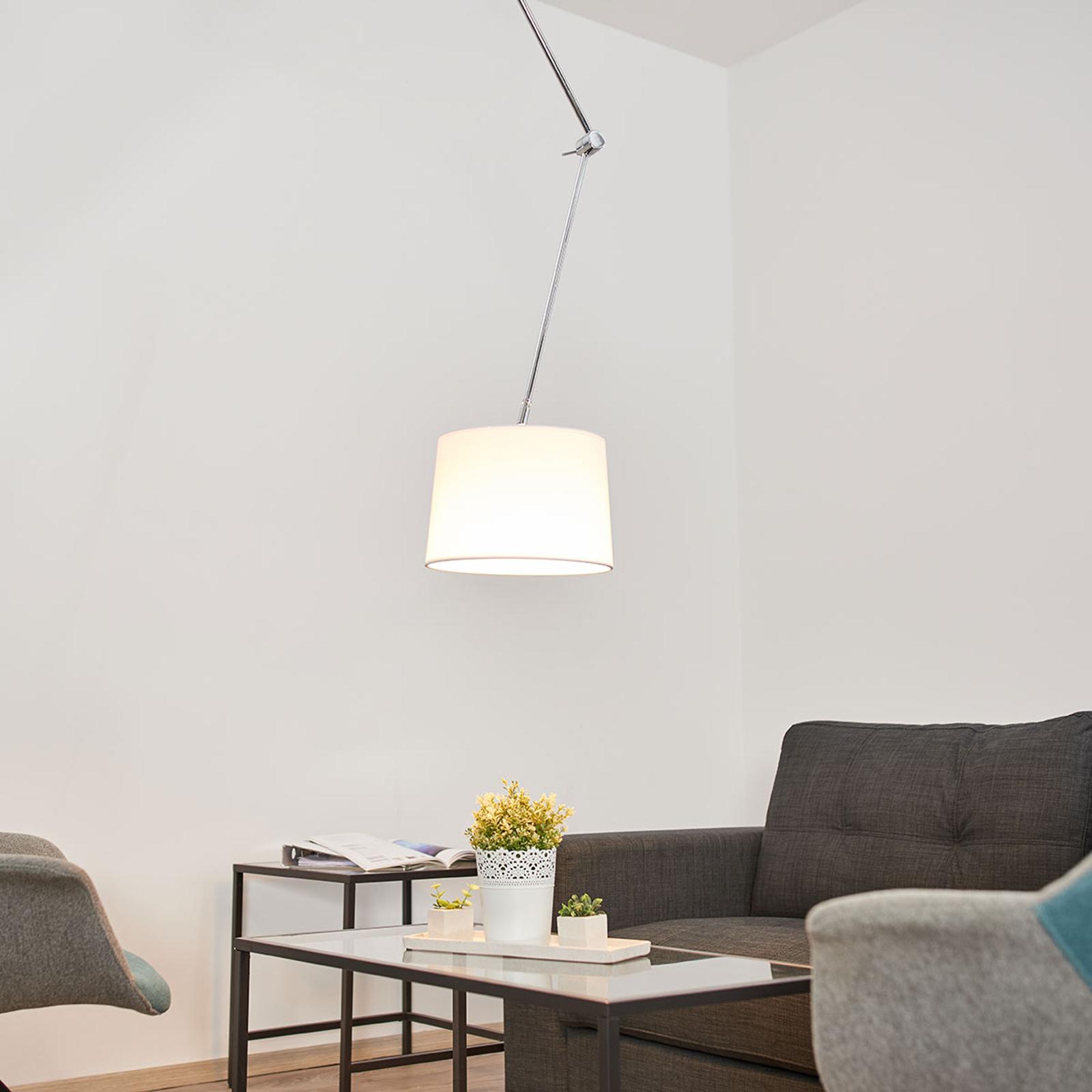 Lampa sufitowa Jolla tkanina, z wysięgnikiem