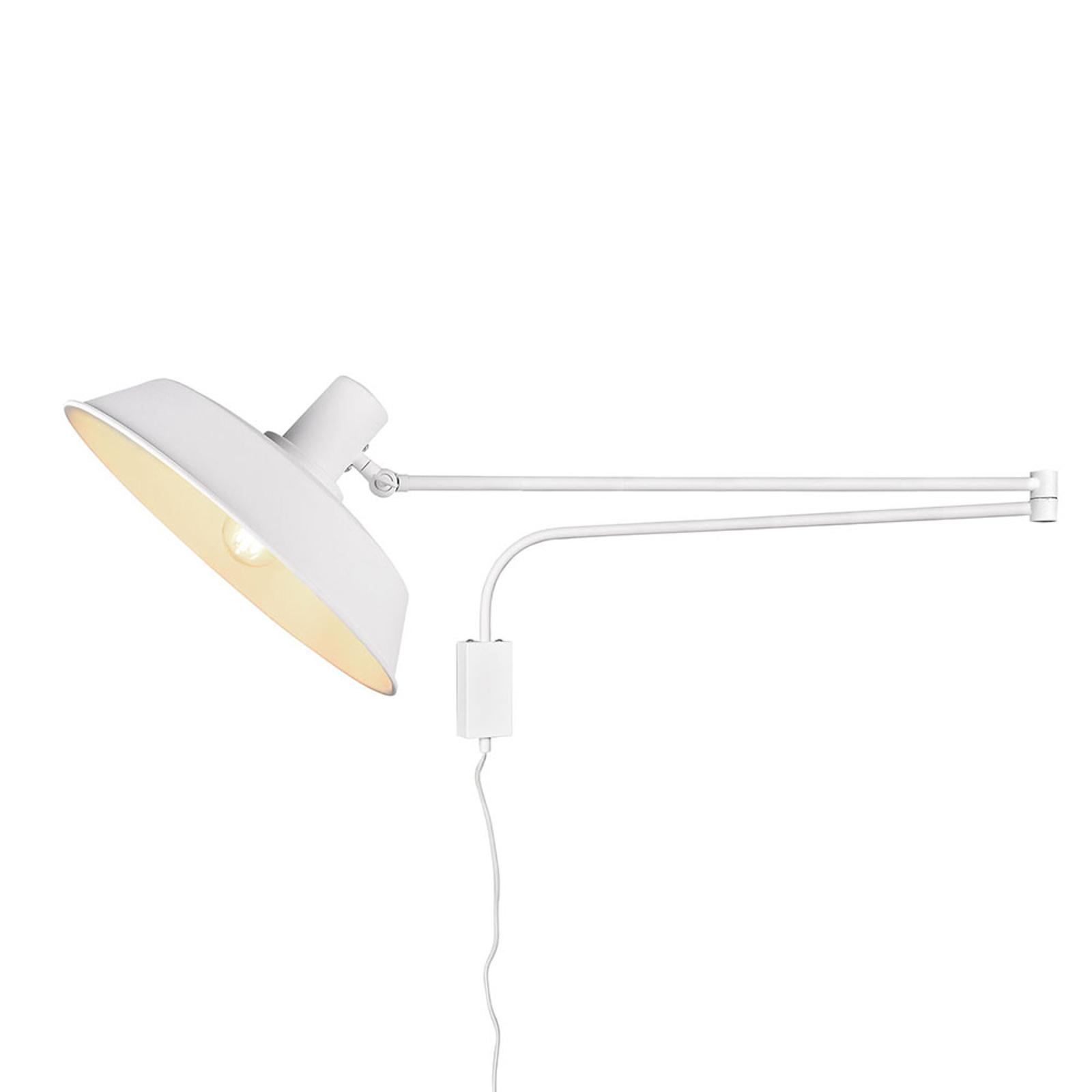 Wandleuchte Bolder, Kabel + Stecker, weiß matt