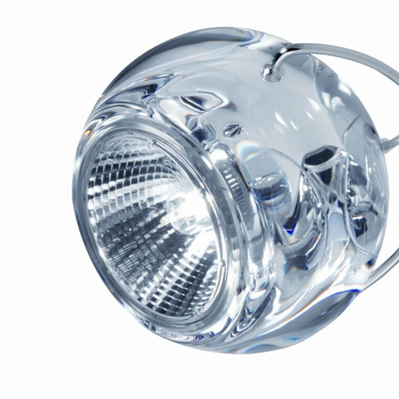 Chique design-hanglamp BELUGA COLOUR transparant