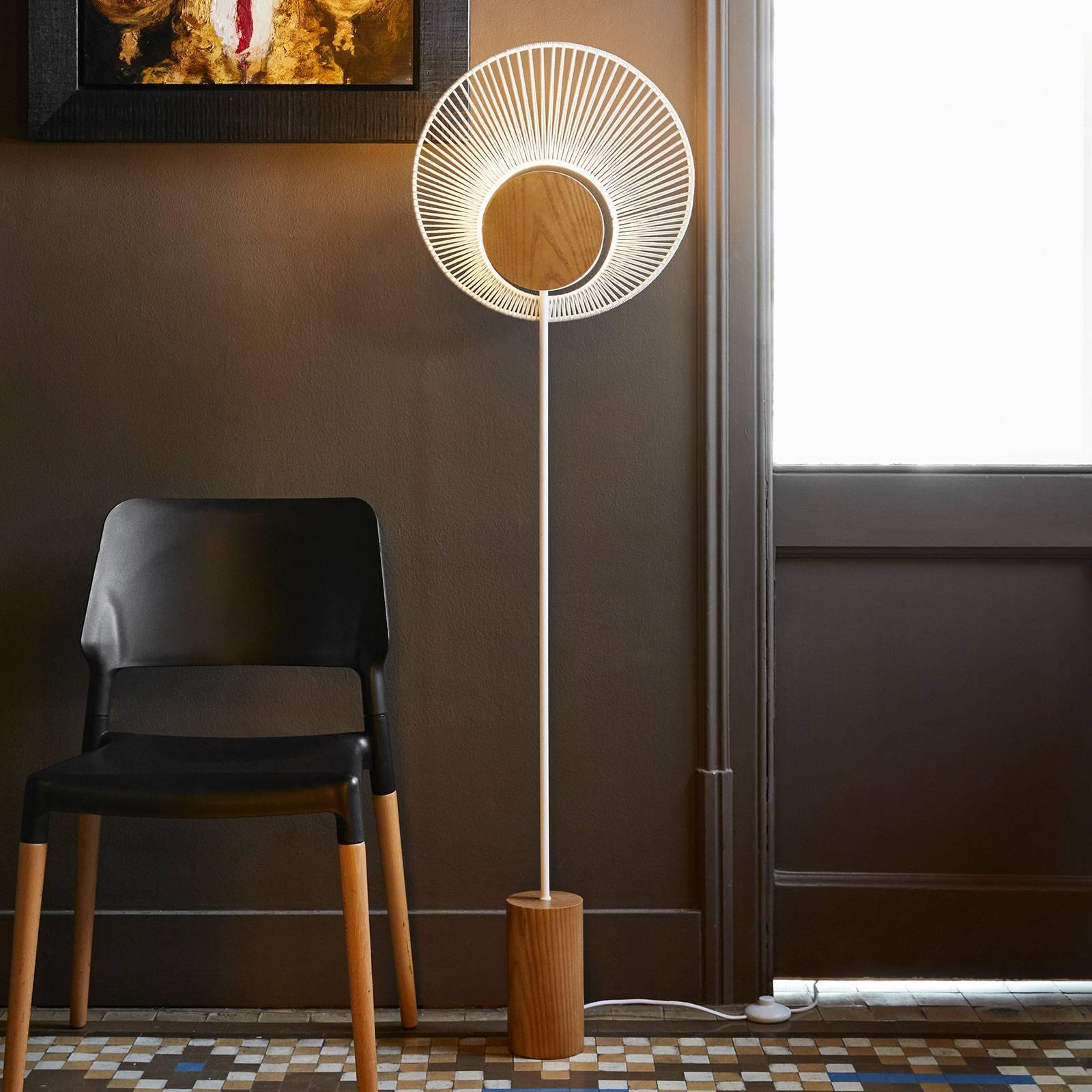 Forestier Oyster designer-vloerlamp, wit