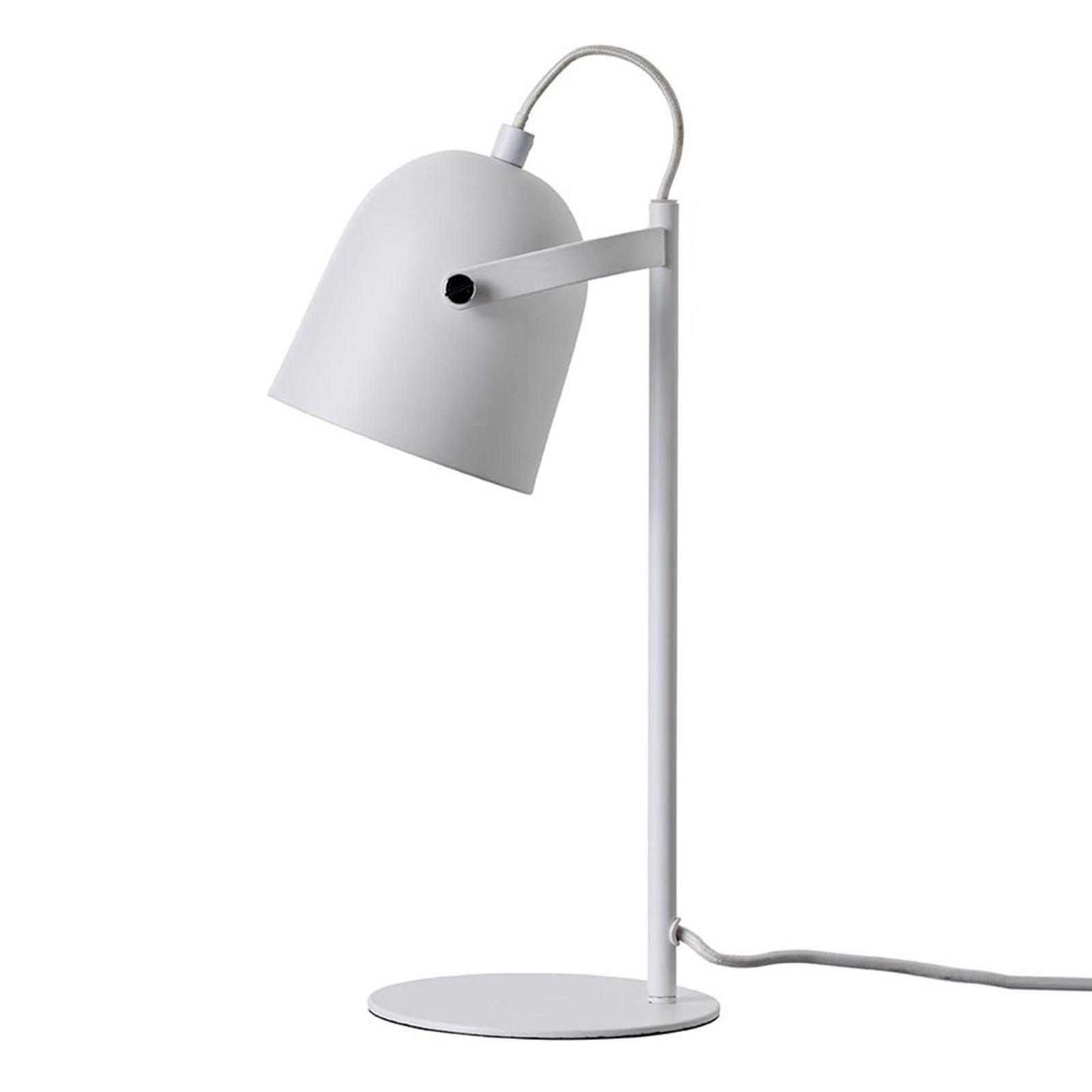 Dyberg Larsen Oslo-pöytälamppu metallia, valkoinen