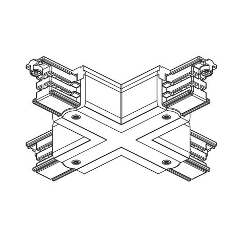 X-Verbinder 3-Phasen Stromschiene Noa