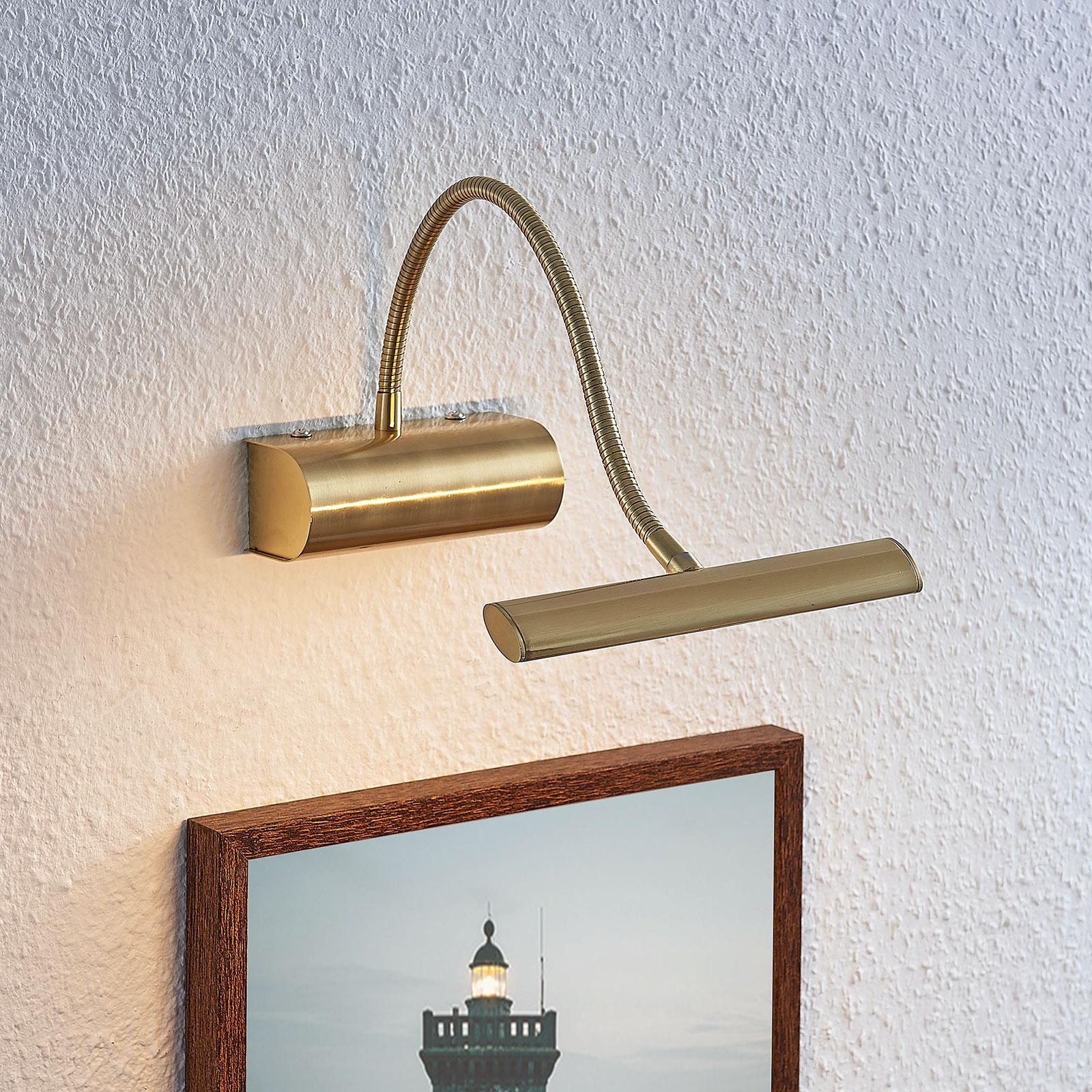 Applique pour tableau LED Rakel, laiton mat