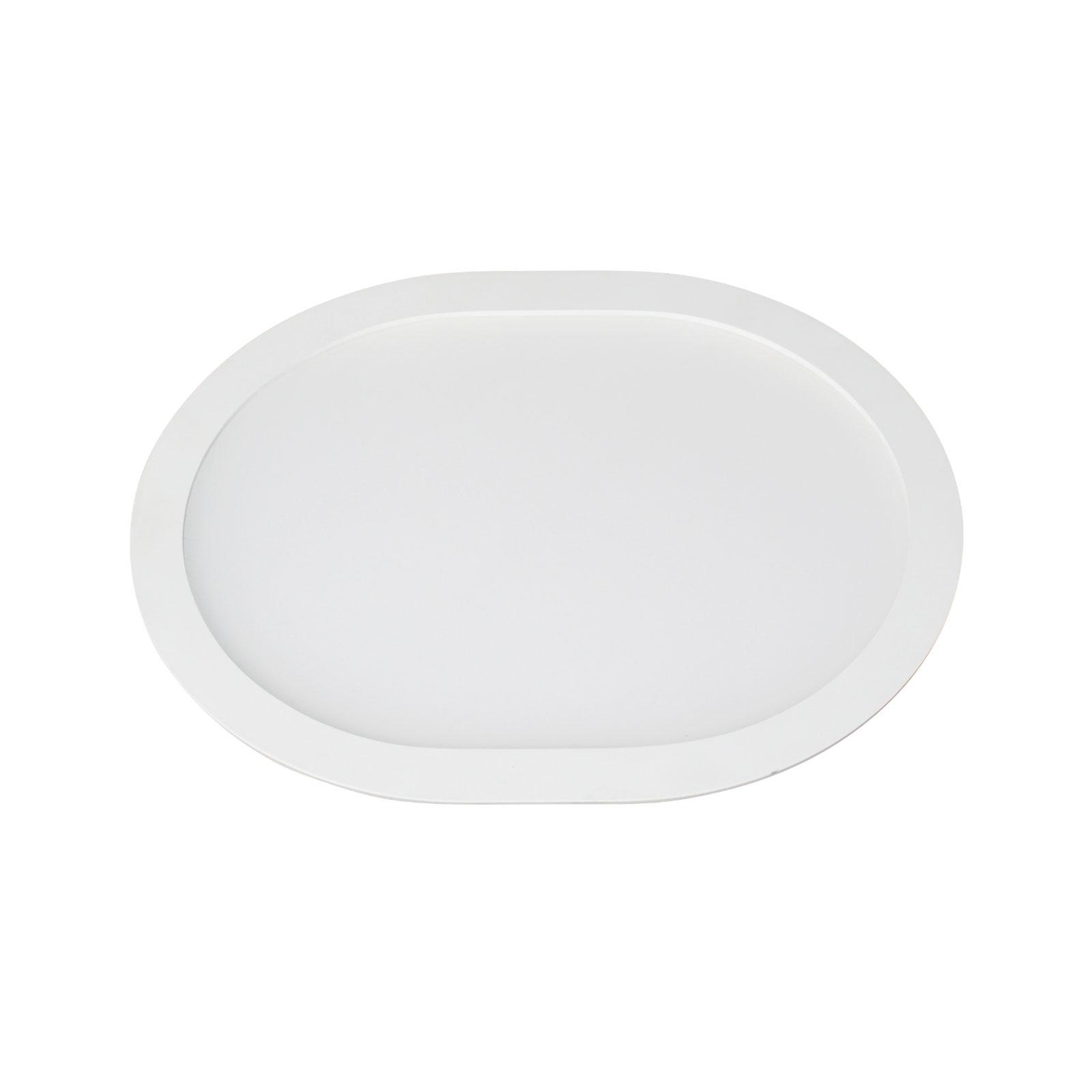 LED-Einbaupanel Ovale 3.000 K, 18 cm x 15 cm
