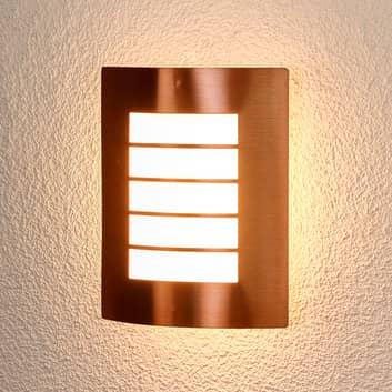 Kobberfarvet udendørsvæglampe Blanka