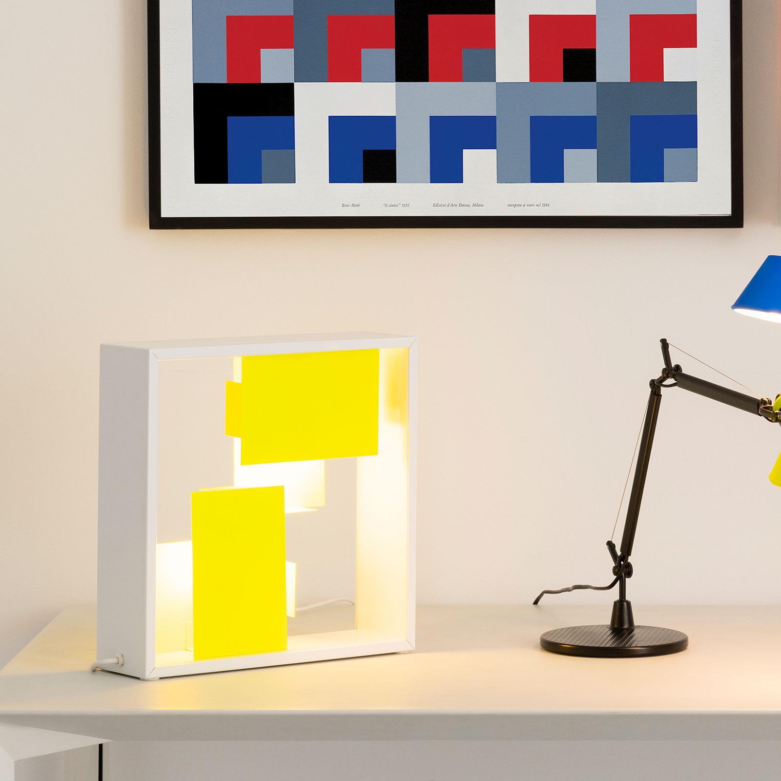 Artemide Fato tweekleurige wandlamp white/yellow